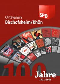 Titelseite der Festschrift 100 Jahre SPD Bischofsheim